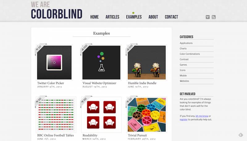 色覚異常者にやさしいサイトデザインの作り方を学ぶ「We are Colorblind」